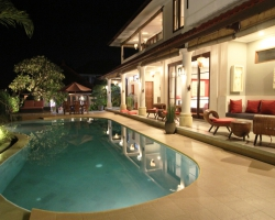 Pool Deck by Night